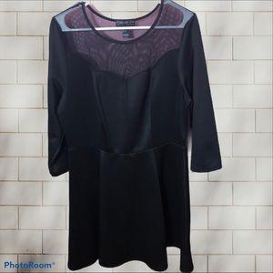 Forever 21 Plus Mesh Black Dress Size 2X